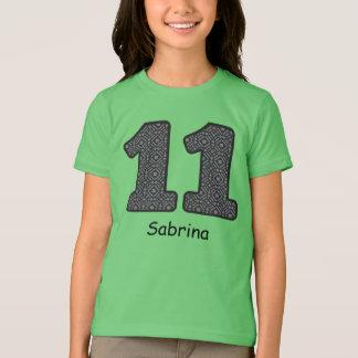 11th Birthday PLAID Custom Name V22 T-Shirt