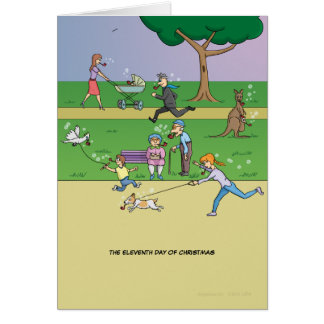 11th Day of Christmas (11 Pipers Piping) Card