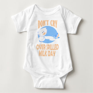11th February - Don't Cry Over Spilled Milk Day Baby Bodysuit
