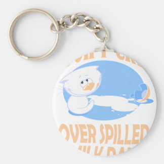 11th February - Don't Cry Over Spilled Milk Day Basic Round Button Keychain