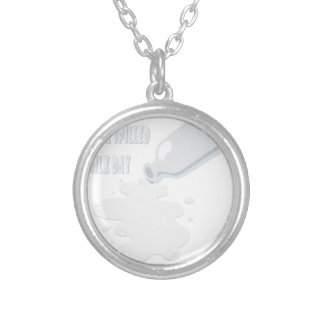 11th February - Don't Cry Over Spilled Milk Day Silver Plated Necklace