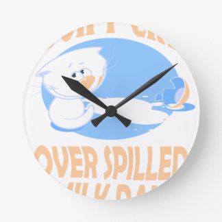 11th February - Don't Cry Over Spilled Milk Day Wall Clocks