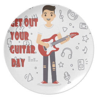 11th February - Get Out Your Guitar Day Dinner Plate
