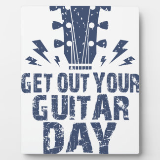 11th February - Get Out Your Guitar Day Plaque