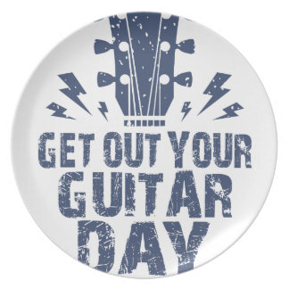11th February - Get Out Your Guitar Day Plates