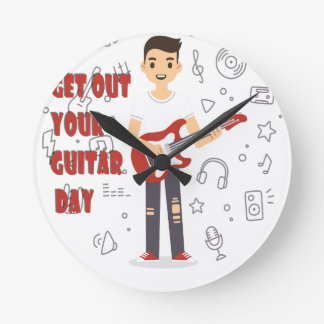 11th February - Get Out Your Guitar Day Round Clock