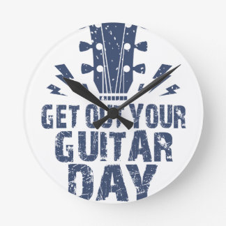 11th February - Get Out Your Guitar Day Wall Clocks