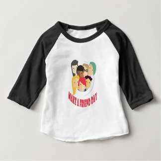 11th February - Make a Friend Day Baby T-Shirt