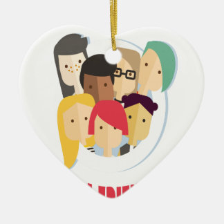 11th February - Make a Friend Day Ceramic Ornament