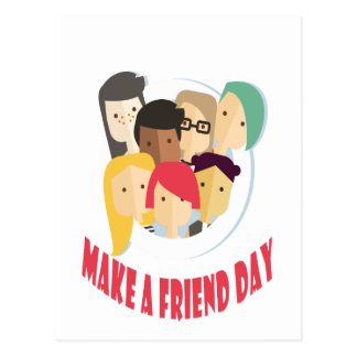 11th February - Make a Friend Day Postcard