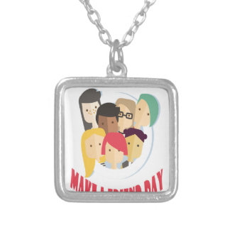 11th February - Make a Friend Day Silver Plated Necklace