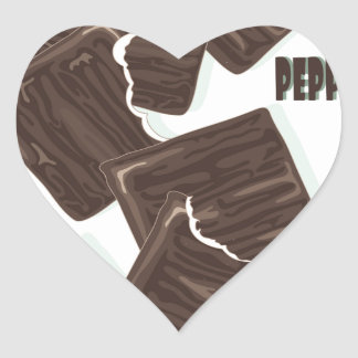 11th February - Peppermint Patty Day Heart Sticker