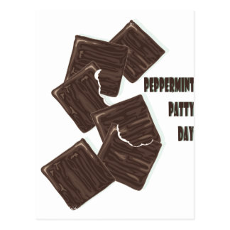 11th February - Peppermint Patty Day Postcard