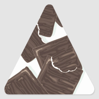 11th February - Peppermint Patty Day Triangle Sticker