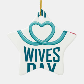 11th February - Pro Sports Wives Day Ceramic Ornament