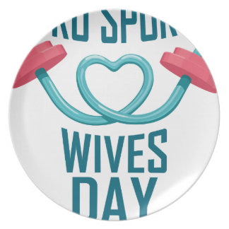 11th February - Pro Sports Wives Day Dinner Plates