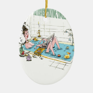 11th February - Satisfied Staying Single Day Ceramic Ornament