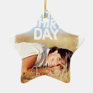 11th February - White Shirt Day Ceramic Ornament