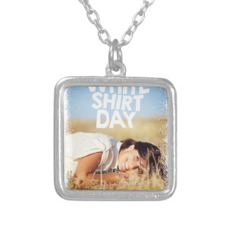 11th February - White Shirt Day Silver Plated Necklace