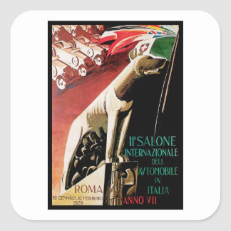 11th Salone Internazionale Automobile ~ Roma Square Sticker