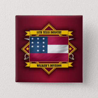 11th  Texas Infantry (v5) 2 Inch Square Button