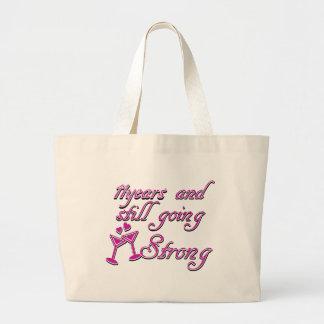 11th wedding anniversary jumbo tote bag