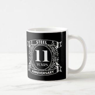 11TH wedding anniversary steel Coffee Mug