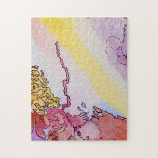 11x14 abstract jigsaw puzzle with design