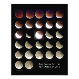 11X14 Lunar Eclipse Sunday, September 27, 2015 Photo Print