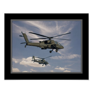 11x14 Print of Military Helicopters