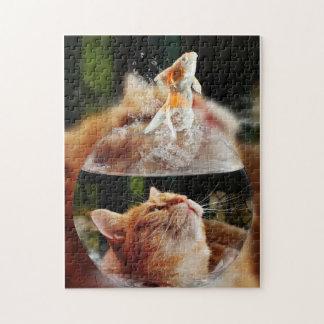 11x14 Puzzle Cat and Fish