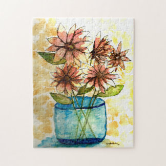 11x14 Sunflower in Vase Jigsaw Puzzle