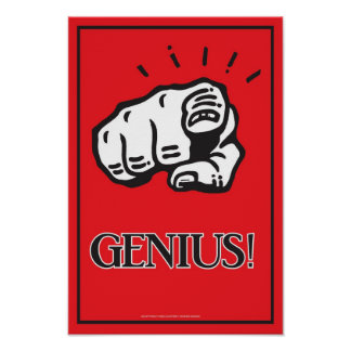 11x16 Genius Poster
