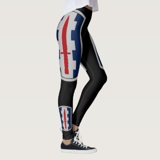 120th Infantry Brigade On Black Leggings