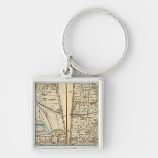 122123 Mt Vernon, Pelham Silver-Colored Square Keychain