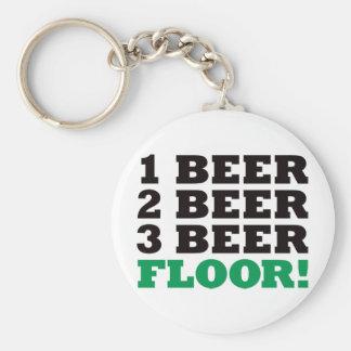 123 Beer Floor - Green Keychain