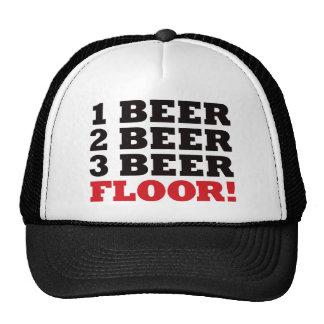 123 Beer Floor - Red Trucker Hat
