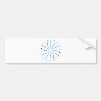 123 Mandala Bumper Sticker