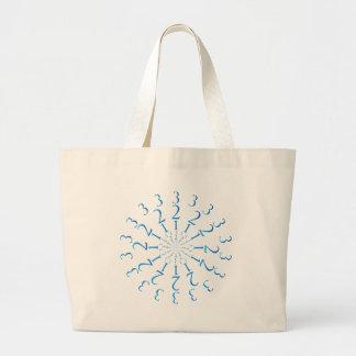 123 Mandala Large Tote Bag