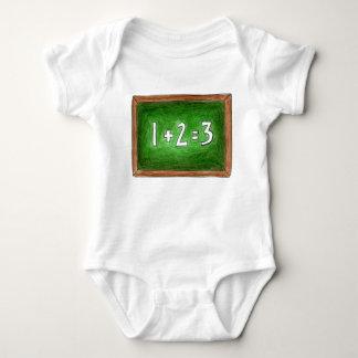 123 Math School Teacher Chalkboard Blackboard Baby Bodysuit