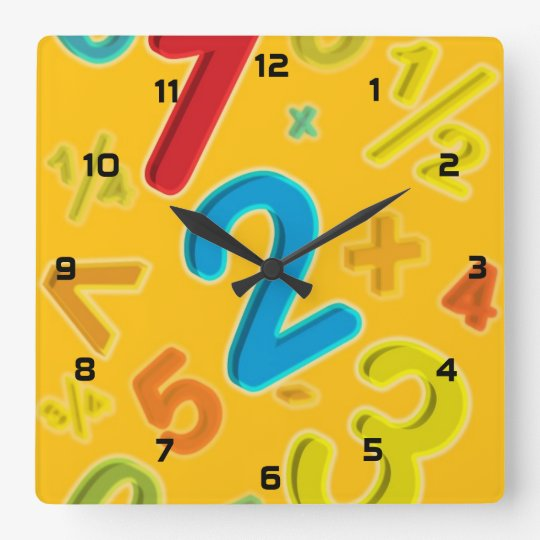 123 SQUARE WALL CLOCK