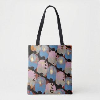 124 - Designer tote bag Japanese laterns