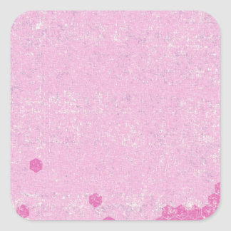 124 GRUNGE HOT PINK GEOMETRIC SHAPES CLUSTERS GRUN SQUARE STICKER