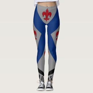 126th Infantry Regiment On Black Leggings