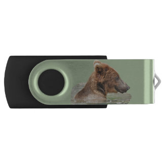 128 GB flash drive with smiling bear