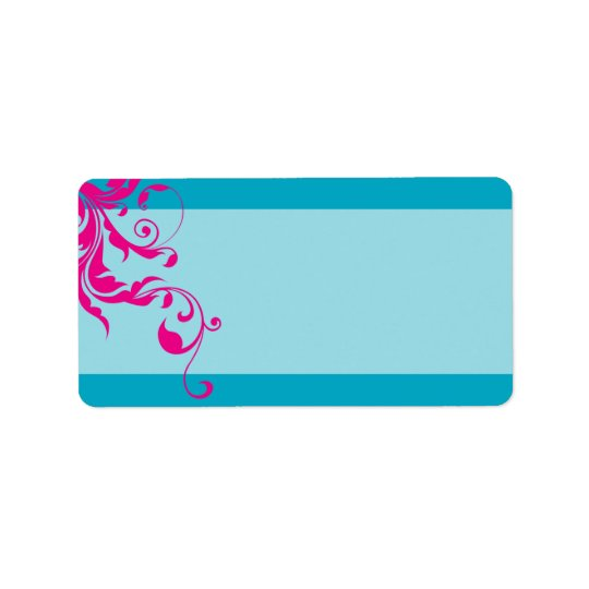 128-marnie BAT MITZVAH flourish turquoise pink