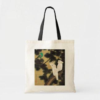 12. 老松鸚鵡図, 若冲 Pine-tree & Parrot, Jakuchū Tote Bag