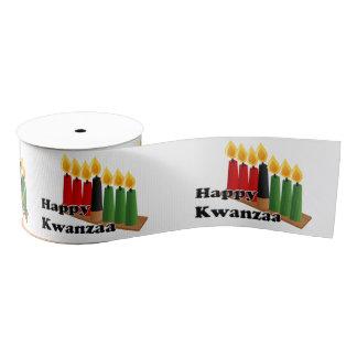 12-26 Happy Kwanzaa Grosgrain Ribbon