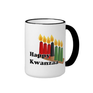 12-26 Happy Kwanzaa Ringer Mug