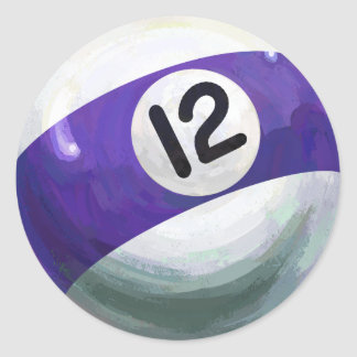 12 Ball Classic Round Sticker